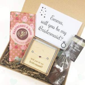 Will You Be My Bridesmaid Silver Gift Box - new in food & drink