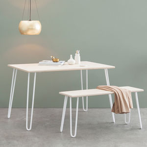 Dining Table, Industrial, Hairpin Legs, Plywood - dining room