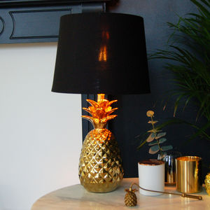 Gold Table Pineapple Lamp Bedside