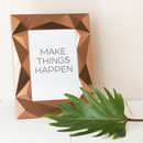 Copper Geometric 3D Photo Frame
