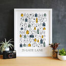 Scandinavian Style Little House Personalised Print