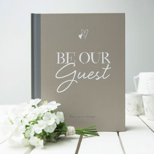 'Be Our Guest' Wedding Guest Book - guest books