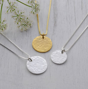 Hammered Disc Necklace - necklaces & pendants
