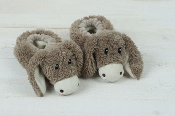 Donkey Baby Slippers Gift Boxed
