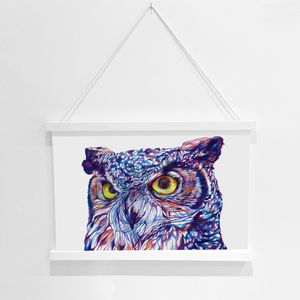 Owl Pencil Illustration Fine Art Print