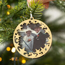 Personalised Photo Christmas Memory Bauble