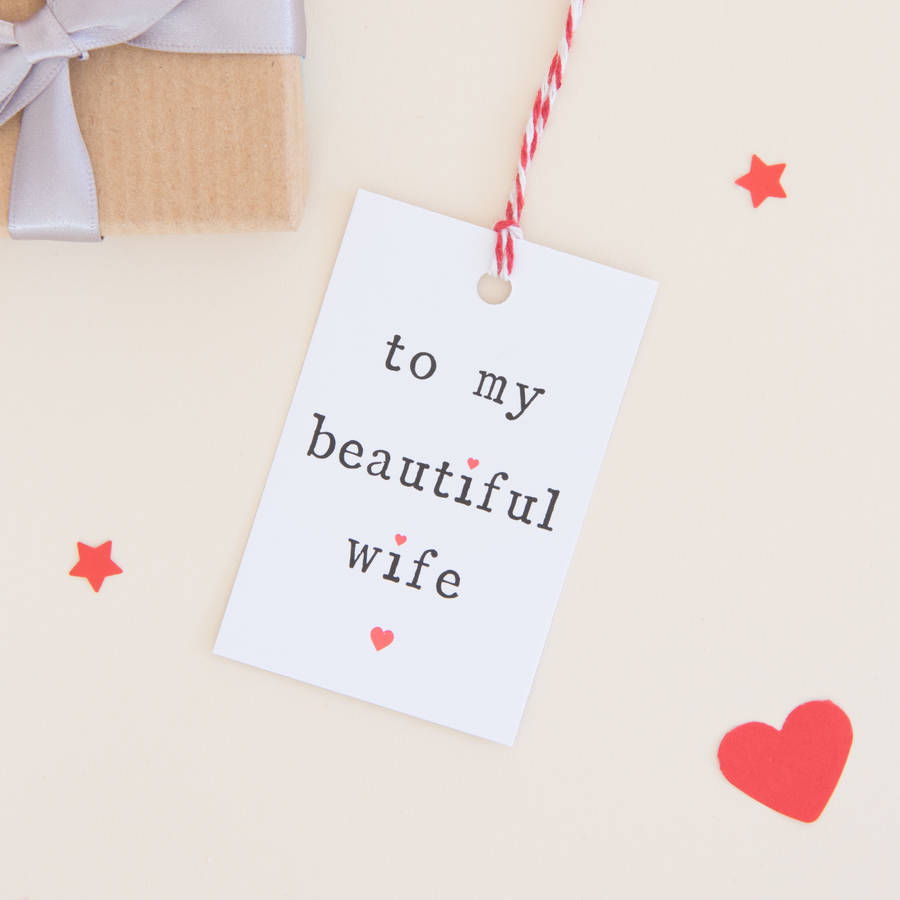 To My Husband Or Wife Gift Tag