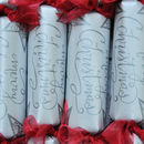 Star And Script Handmade Christmas Crackers Box Of Six