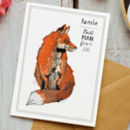 Personalised Monicled Fox Best Man Card