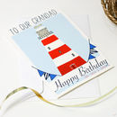Personalised Lighthouse Family Birthday Card