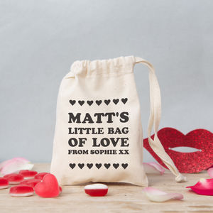 Love Text Mini Gift Bag With Sweets - sweets