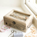 Personalised French Haberdashery Storage Box