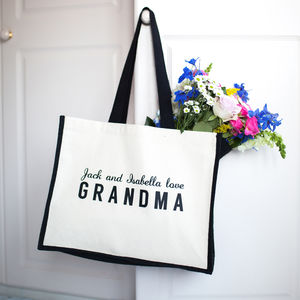 Personalised Love Grandma/Nana/Nanny/Granny Bag - gifts for grandparents