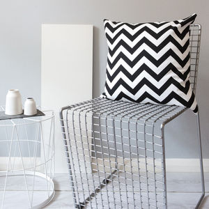 Monochrome Zig Zag Cushion - cushions