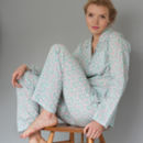 Women's Pyjama Set In Green Vine Print
