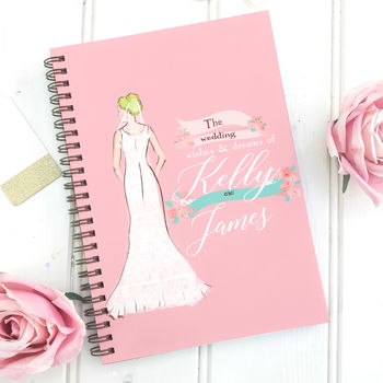 Personalised Wedding Notebook Planner '1950'