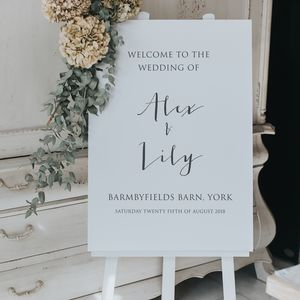 Calligraphy Style Welcome Sign - outdoor wedding signs