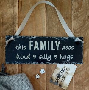 Engraved Slate Family Sign