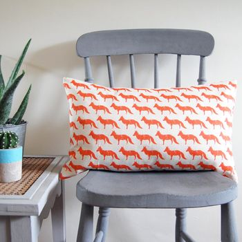 Small Rectangle Fox Cushion