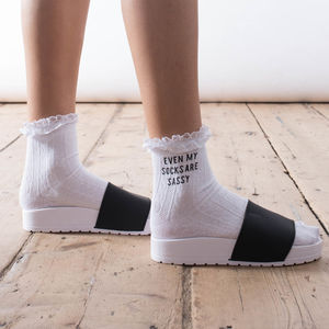 'Even My Socks Are Sassy' Socks - women's fashion