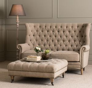 Caversham Buttoned Back Two Seater Sofa - furniture