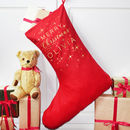 Personalised Merry Christmas Big Red Stocking