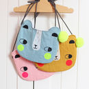 Children's Linen Bear Bag