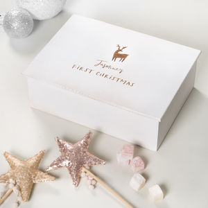 First Christmas Personalised Keepsake Box - christmas eve boxes