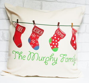 Personalised Christmas Stocking Cushion - christmas home