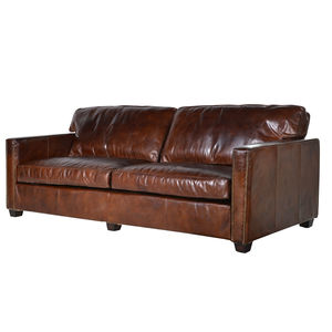 Vintage Leather Manhattan Three Seater Sofa - sofas