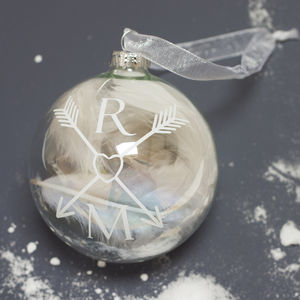 Couple Monogram Bauble - tree decorations