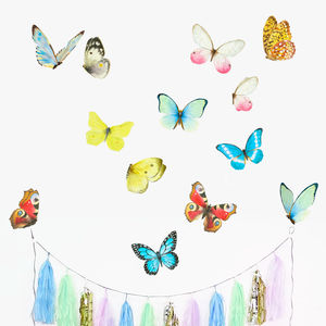 Watercolour Butterflies Wall Stickers Mini - wall stickers