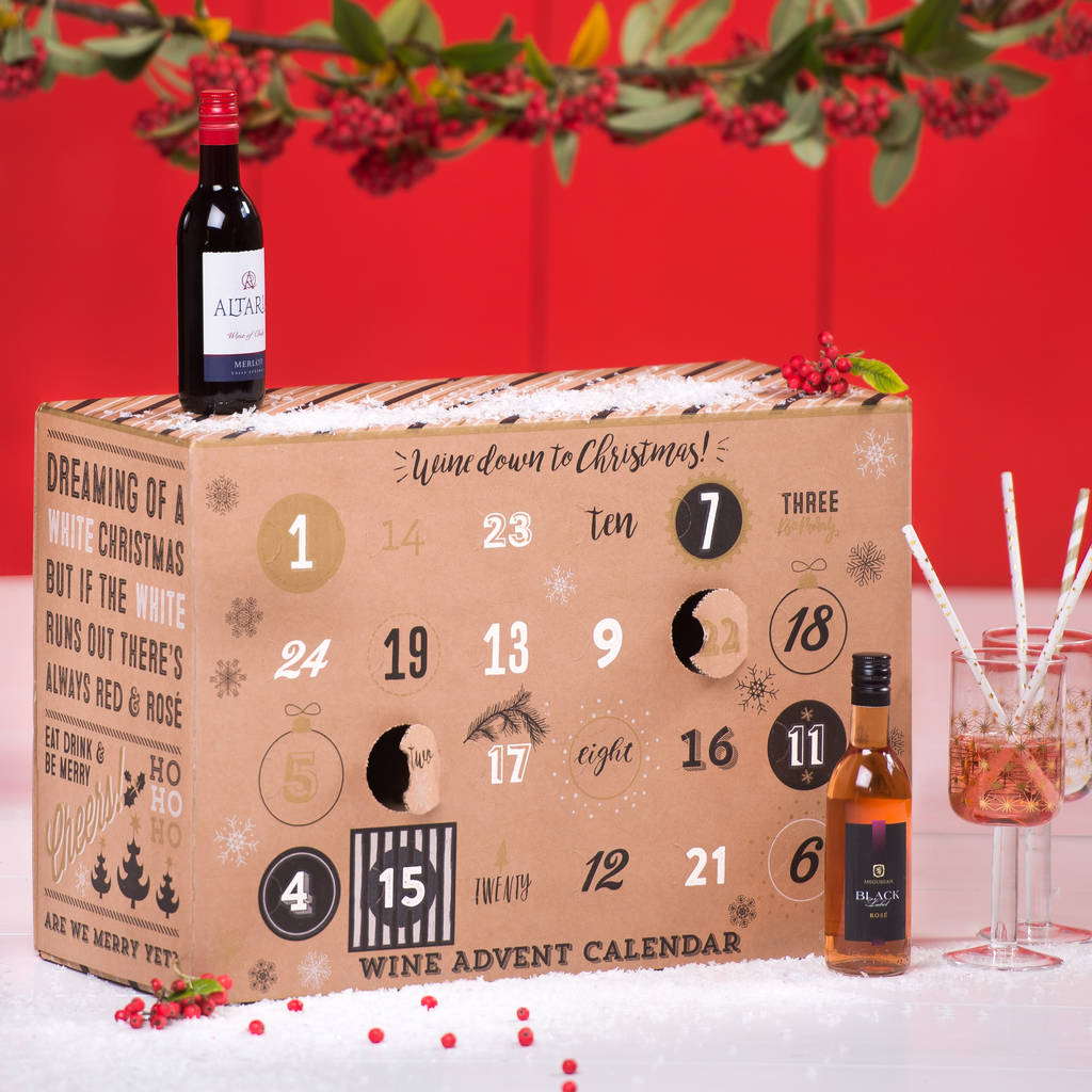 wine down to christmas advent calendar by. Black Bedroom Furniture Sets. Home Design Ideas
