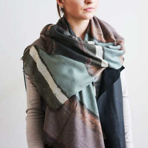 Muted Ombre Print Scarf - womens