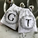 Personalised Monochrome Wreath Mini Gift Bag