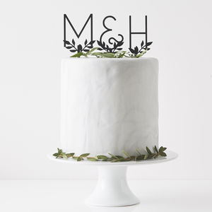 Personalised Letters Cake Topper - decoration