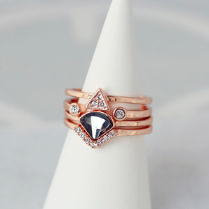 Art Deco Stacking Rings