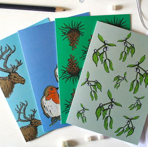 Woodland Christmas Cards - winter sale