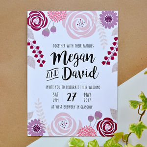 Wild Flowers Wedding Invitation - invitations
