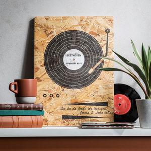 Personalised Record Wooden Print - best father's day gifts