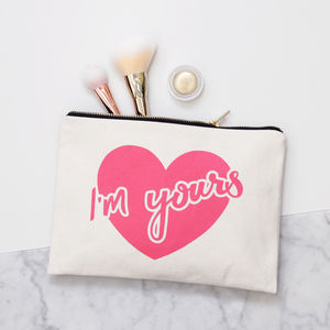'I'm Yours' Canvas Pouch