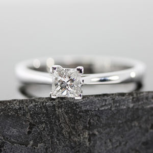Princess Diamond Ring - engagement rings