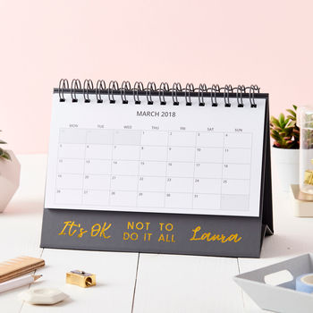 Personalised 'It Is Ok' Desk Calendar