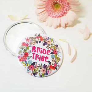 Bride Tribe Large Hand Held Pocket Mirror - be my bridesmaid?
