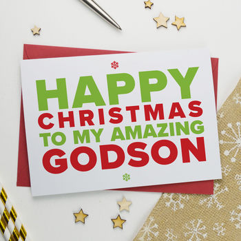 Christmas Card For Amazing Godson
