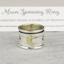 Crescent Moon Spinning Ring