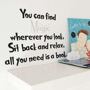 Children's Reading Quote Wall Sticker