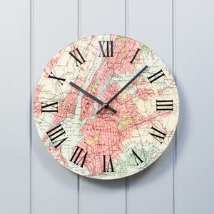 Personalised Map Wall Clock - clocks