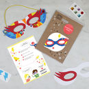 Make Your Own Superhero Mask Kit