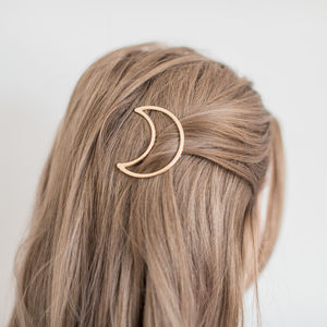 Gold Half Moon Hair Clip - hair accessories